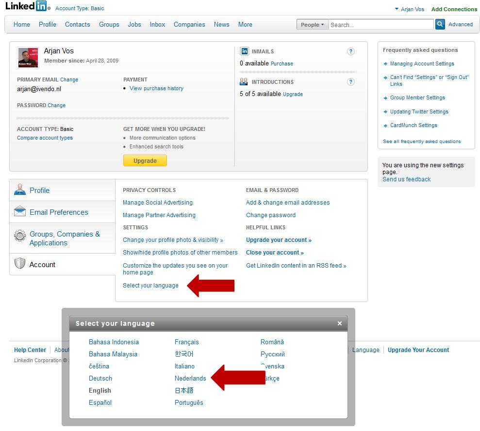 LinkedIn In Het Nederlands