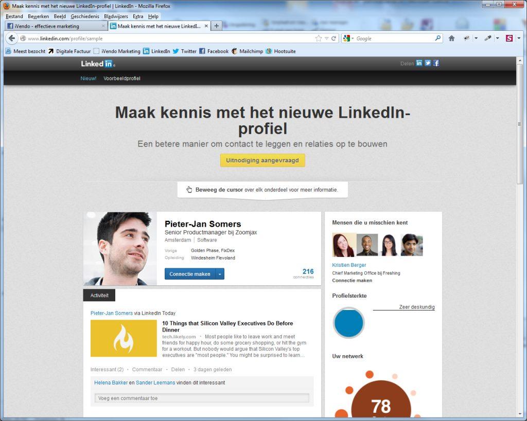 Het nieuwe LinkedIn profiel