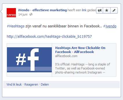 facebook hashtag facebook