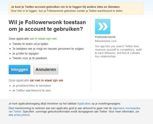 followerwonk-autorisatie