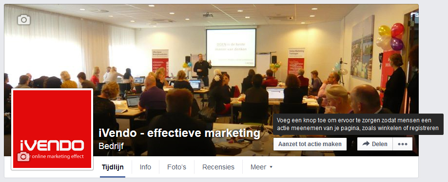 facebook call to action knop